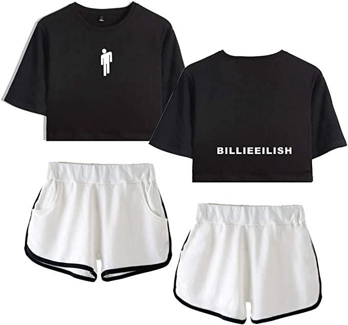Siskey Billie Eilish Shirt Tee Kurze Hulsen Shirt Short Sleeve Billie Eilish Kurzarm Shorts Set Billie Eilish Unisex Sommer Kurze Hulsen T Shirts T Stucke Color3 2xl Amazon De Bekleidung