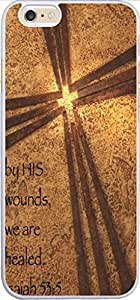 Iphone 6 Case Bible Verse,Topgraph Apple iPhone 6 (4.7) Hard Slim Case Christian Quotes By His Wounds We Are Healed Isaiah 53:5