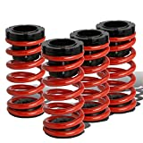 For Toyota Corolla E130 Adjustable Coilover Suspension Lowering Spring (Red)