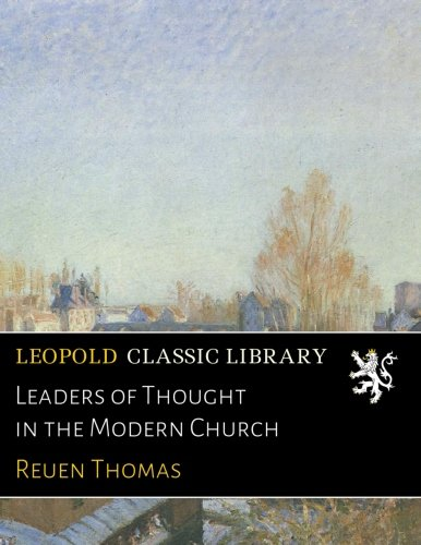 Leaders of Thought in the Modern Church ebook