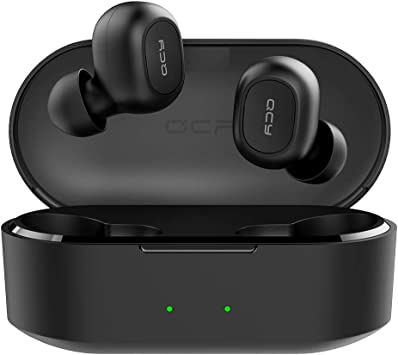Amazon Com Qcy T2c True Wireless Earbuds With Charging Case Tws 5 0 Bluetooth Headphones Compatible For Iphone Android And Other Leading Smartphones Black Home Audio Theater