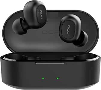QCY T2C True Wireless Bluetooth Earbuds, V5.0 Bluetooth In-Ear Stereo Earphones, Dynamic HiFi Sound Quality, Noise Cancelling Built-in Mic, Total 32 Hours, Ultral-low Audio Delay, Auto Pairing