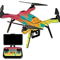 MightySkins Protective Vinyl Skin Decal for 3DR Solo Drone Quadcopter wrap cover sticker skins Sherbet Palms