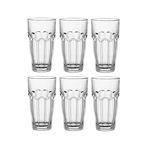 Bormioli Rocco 418982 Rock Bar Breakfast Glass 9.75 Ounce 6 Pack
