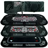Superior 3 in 1 Poker/Craps/Roulette Tri Fold Table Top [10-18300] -