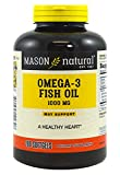Mason Natural, Omega 3 Fish Oil 1000mg Softgels, Bonus Size 200-Count Bottle, Dietary Supplement Supports Heart, Eye, Brain and Joint Health with Omega 3 Fatty Acid Healthy Fats Review