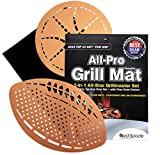 "Red Spade All-Pro Grilling Cooking Mat for Barbecues, Camping, Parties - 3 Set, Non-Stick Grill Mats - Great for Meats, Pizza, Vegetables, BBQ, Smoking, and Baking - Professional Grade (13""x15"")"