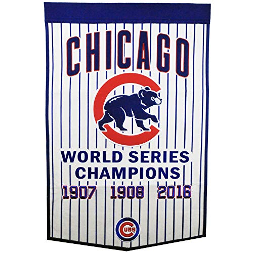 (Winning Streak MLB Chicago Cubs 76147Chicago Cubs Pinstripe Dynasty Banner, Multicolor, One Size)