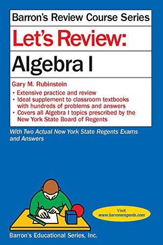Pdf Math Let's Review Algebra I (Barron's Regents NY)