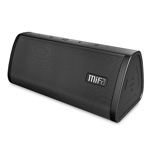 Bluetooth Speaker, MIFA A10 Wireless Portable TWS Speaker V4.2, 16-Hour Playtime, 10W HD Stereo & Bass, IP45 Dustproof Water-Resistant, Micro SD Card Slot, Built-in Mic for Hands-free Call by MIFA