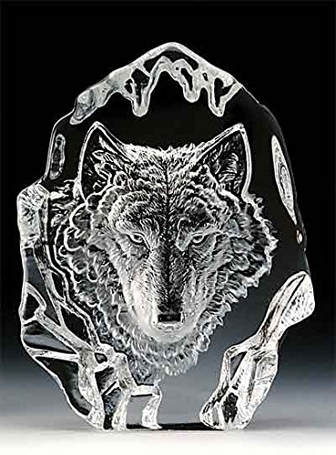 VG Engraved Lead Crystal - Wolf Head