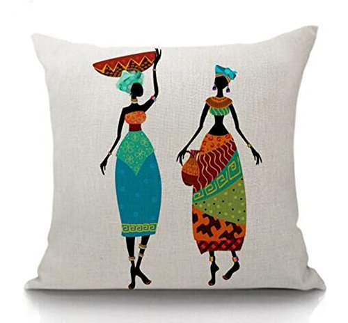 - African indigenous Ethnic Design And Animals cotton Linen Square Throw Pillow Case Decorative Cushion Cover Pillowcase Sofa 18