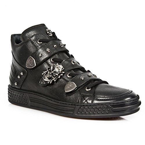 New Rock Boots M.ps014-c10 Gotico Hardrock Punk Unisex Sportschuhe Schwarz