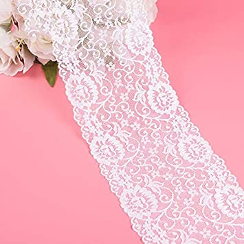 1Yard 15cm Lace Ribbon Tape Fabric DIY Embroidered Net Lace Cord For Sewing Decoration Craft Clothing Accessories Color: L01, Size: 15cm Lace Crafts