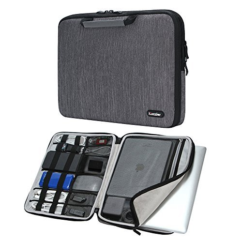iCozzier 15-15.6 Inch Handle Electronic Accessories Strap Laptop Sleeve Case Bag Protective Bag for 15