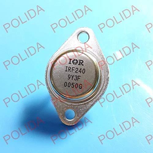 FidgetKute 10PCS MOSFET Transistor IR/Motorola to-3 IRF240 Show One Size