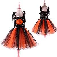 Halloween Pumpkin Girls Tutu Dress Kids Tulle Dresses for Girls Princess Children Party Dresses Cosplay Costume