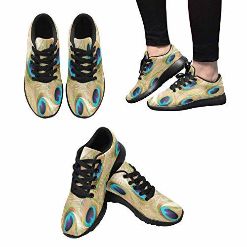 Interestprint Mujeres Jogging Running Sneaker Ligero Go Easy Walking Comfort Deportes Zapatos Atléticos Plumas De Un Pavo Real Multi 1