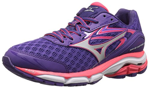 Mizuno Women's Wave Inspire 12 Running Shoe, Royal Purple/Silver, 7 B US
