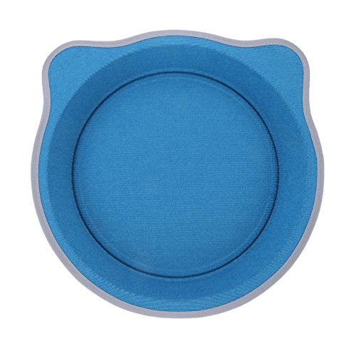 WinnerEco Round Cat Pot Bed Cat Claw Tray for Puppy Cat with Catnip Pet Supply(Blue)