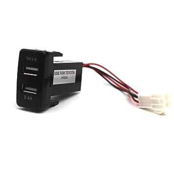 LOKEKE Toyota Vigo - Cargador rápido de Coche (Conector USB ...