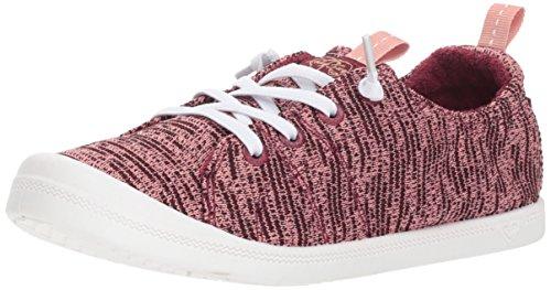Sneaker Slip Roxy Women's Sport Fashion on Shoe Bayshore Burgundy gpPnBpx0