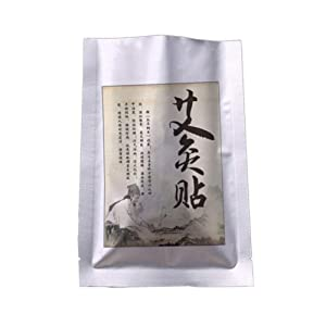 ColorfulLaVie Wormwood Neck Patch Natural Herb Self-Heating Neck Shoulders Back Leg Knee Joints Pain Relief-Pack smokeless Mugwort Wormwood Moxa Pads of
