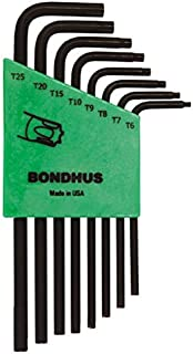 product image for Bondhus 31832 Set of 8 Star L-wrenches, Long Length, sizes T6-T25