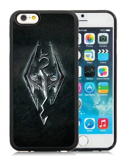 Price comparison product image The Elder Scrolls V Skyrim (2) Black Phone Case for iPhone 6S 4.7 Inch,iPhone 6 TPU Case