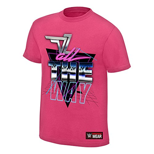 WWE Dolph ZigglerAll The Way Youth Authentic T-Shirt Pink Small (Ziggler Shirts Dolph T Wwe)