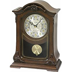 Rhythm Clocks Nice II Wooden Musical Mantel Clock