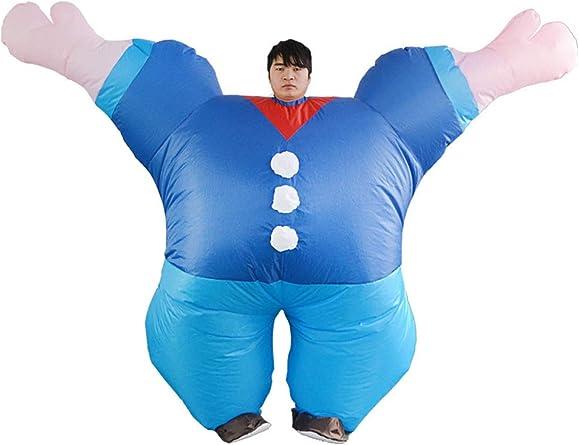 Disfraz Inflable Azul Popeye para Adultos 1.5-1.9M: Amazon.es ...