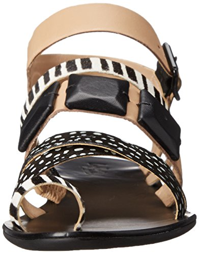 Sandal Loeffler Sedona Black Randall White Wheat Women's CtRSwg6ntq