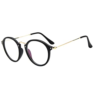78d21cdd855e Deylaying Retro Short Distance Eyeglasses Cat Eye Big Round Frame Myopia  Nearsighted Glasses Blue Light Filter Lenses -1.0~-5.0 (These are not  reading ...