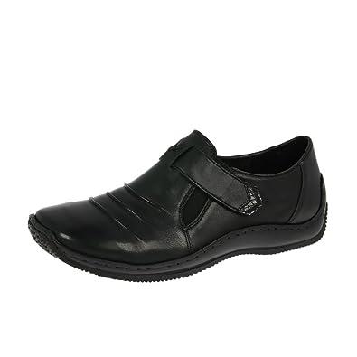 discount 2b339 d5202 Rieker Damenschuhe L1763-00 Schwarz: Amazon.de: Schuhe ...