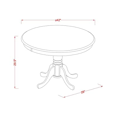 Round East West Furniture HBT-ABK-TP Table