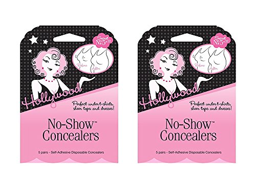 (Set of 2 Hollywood Fashion Secrets No-Show Nipple Concealers (Disposable CoverUps))