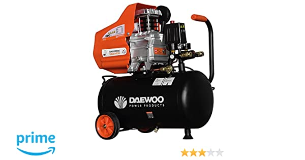 Daewoo DAC24D Compresor eléctrico 220 V, Negro/Naranja 2 HP, 195 L/min, 24 L: Amazon.es: Bricolaje y herramientas