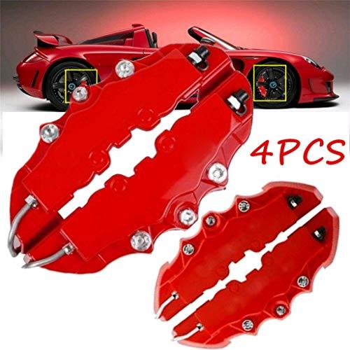 VICCKI 4PCS 3D Red Car Universal Disc Brake Caliper Covers Front & Rear Accessories Kit