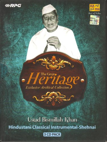 Ustad Bismillah Khan - The Great Heritage Exclusive Archival Collection (3-CD Pack / Hindustani Classical Instrumental - Shehnai) by Saregama