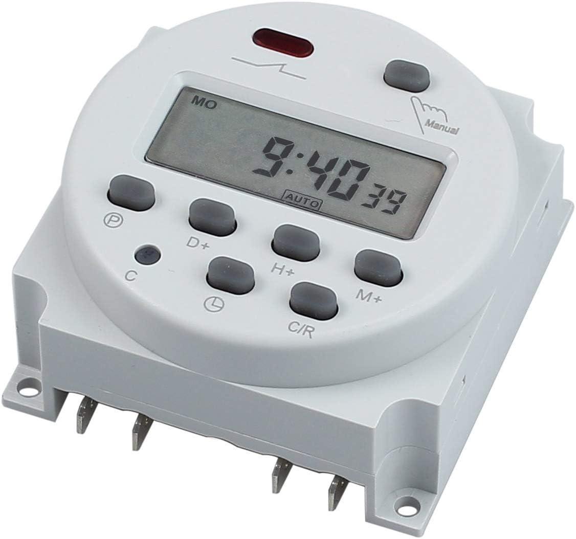 Nynelly - Temporizador digital con interruptor de control del tiempo, pantalla LCD programable digital con temporizador electrónico CN 102 A, 12 V, 24 V, 110 V, 220 V (12 V)