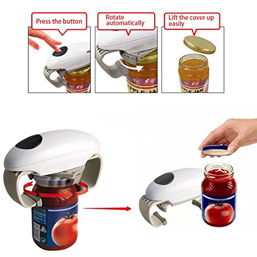 Automatic Electric Jar Opener One-Touch Can Ope...