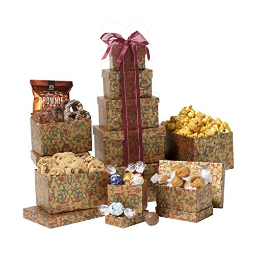 Broadway Basketeers Celebration Gift Tower by Broadway Basketeers