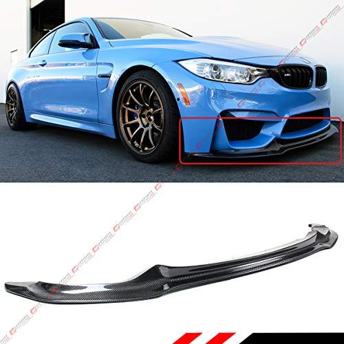 Fits for 2015-2018 BMW F80 M3 F82 F83 M4 V Style Carbon Fiber Front Bumper Lip Splitter Spoiler