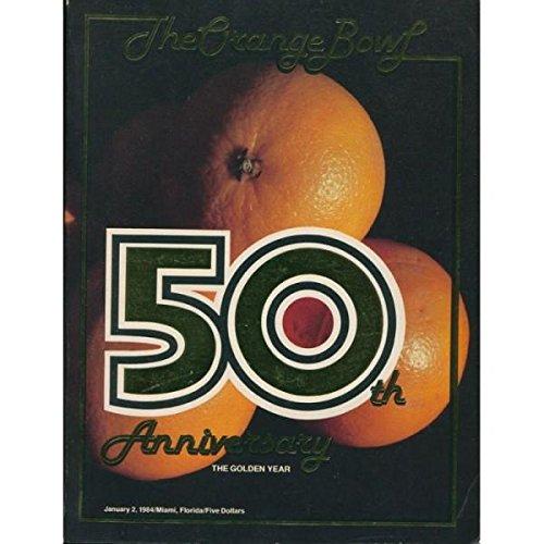 Orange Bowl 50th Anniversary Program. UM National Championship Year -