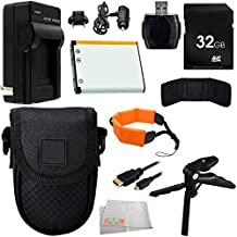Essential Accessory Kit For Fuji Fujifilm FinePix XP60, XP70, XP80 Waterproof Digital Camera. Includes 32GB Memory Card + High Speed Memory Card Reader + Memory Card Wallet + Replacement NP-45A Battery + AC/DC Rapid Home & Travel Charger + MORE