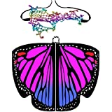Shireake Baby Christmas/Party Prop Soft Fabric Butterfly Wings Shawl Fairy Ladies Nymph Pixie Costume Accessory … (168x135CM, Butterfly Purple)