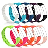 BillionPair Fitbit Alta Bands, Replacement Band, 25 Colors Available, with Metal Clasp and Ultathin Fastener, Large and Small Size for Men and Women (No Tracker)