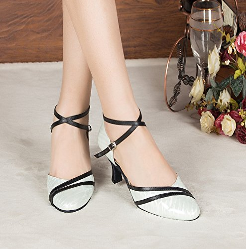 Dance Miyoopark Heel Latin MY White Shoes Pumps 5cm Wedding L187 Ladies 7 Closed Synthetic Toe rX6HUqX
