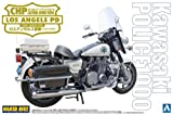 Aoshima Models AOS-003336 Kawasaki Police 1000 Window Shield Type Motorcycle Model Building Kit, 1/12 Scale